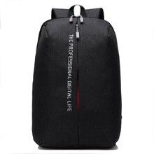 купить 2019New Fashion casual USB Charge Anti Theft Backpack for Men 15 inch Laptop Mens Backpacks School Bag Bagpack sac a dos mochila по цене 2996.04 рублей