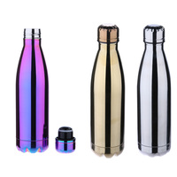 Coke Bike Bottle 500ml Water Cup Portable Vacuum Insulated Stainless Steel Mirror Water Bottle Perfect
