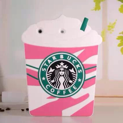 Starbucks Case iPad Mini 1 2 Soft Silicone 3D Coffee Cup Protective 7.9 Red/Pink/Yellow Best Quality - Beauty Mobile store