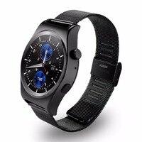 Steel Band Smart Watch With LCD HD Full Circle Display Bluetooth 4.0 Smart Sleep Monitor with Knob Regulator