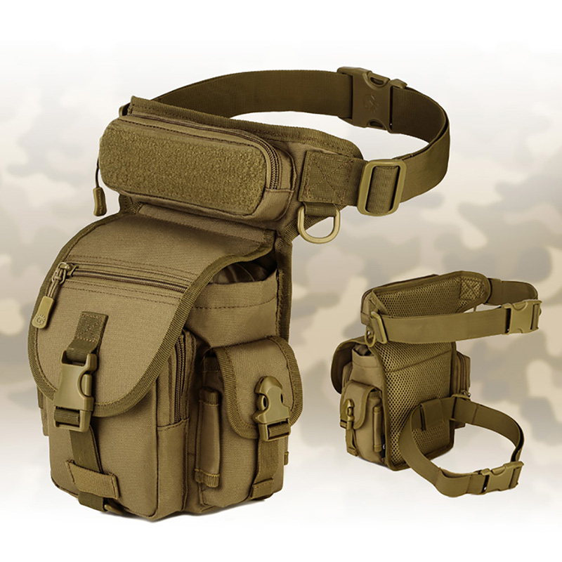 Ourdoor Waterproof Tactical EDC Molle Fanny Pack Portable Military Sawt Leg Belt Bag Utility Gadget Security Pack Carry Bags Q1