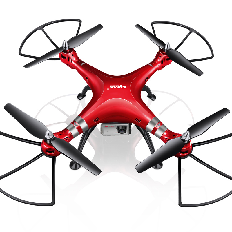 SYMA Professional UAV X8HG X8G Upgrade 2 4G 4CH 6 Axis Gyroscope RC Helicopter Quadcopter Drone 1080P 8MP HD Camera Red Color in RC Helicopters from Toys Hobbies