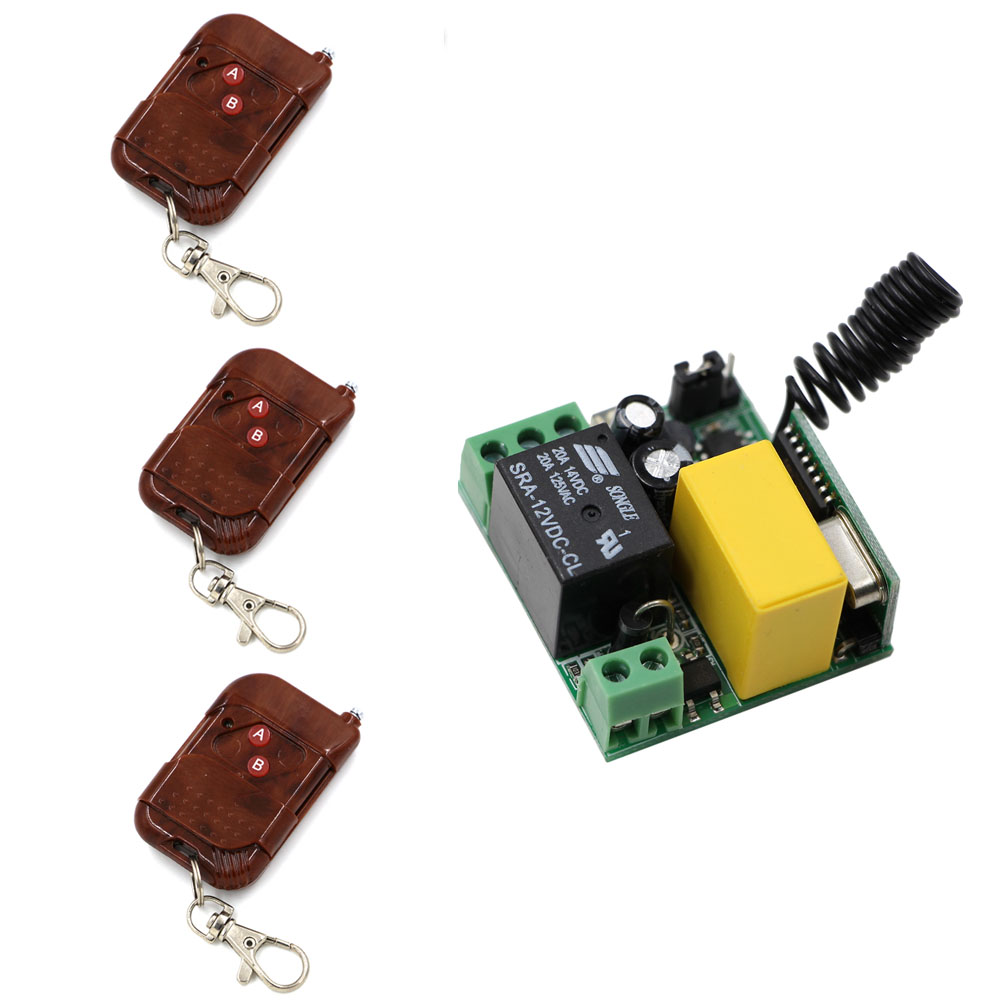 AC220V Mini Size Radio Remote Control Lighting Power ON OFF Switches System Learning Code 315/433MHZ 220v 2 channel lighting remote control switches lamp led light remote on off switch system 1receiver 2transmitter learning code