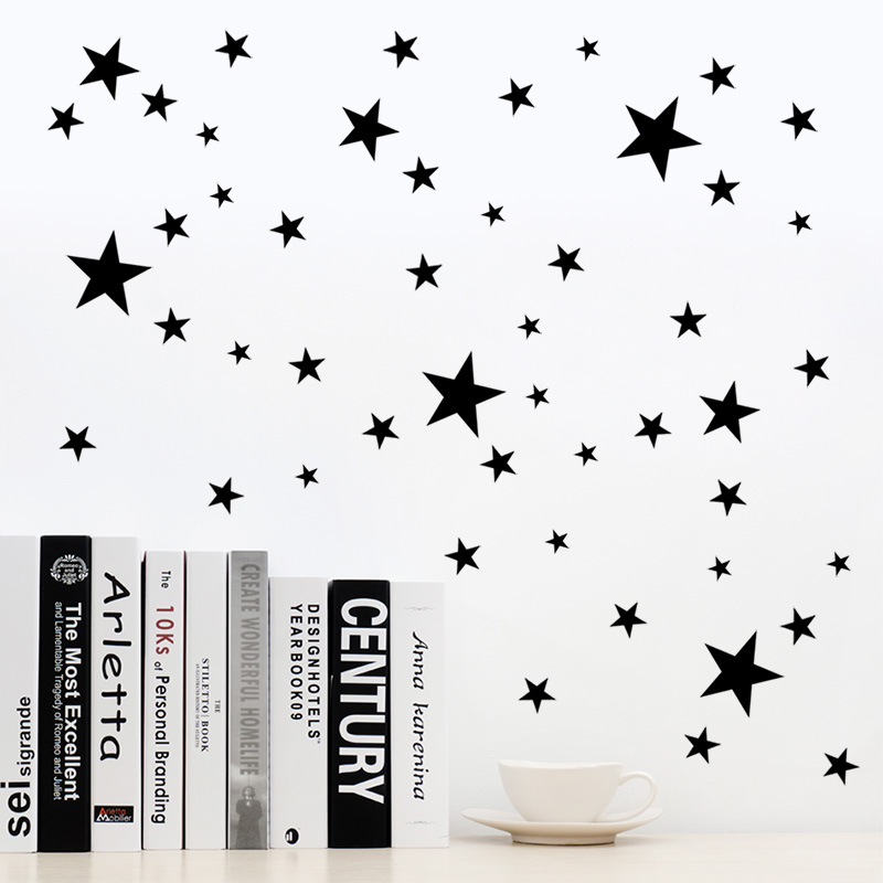Decorative Art Murals DIY Stars Triangles Round Circles Vinyl Wall Stickers Decals for Bedroom Living Room,KIDS room decor
