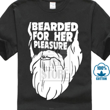 205143a65 Sleeves Cotton For Her Pleasure Funny Beard Hipster Slogan T Shirt Men'S  Crew Neck