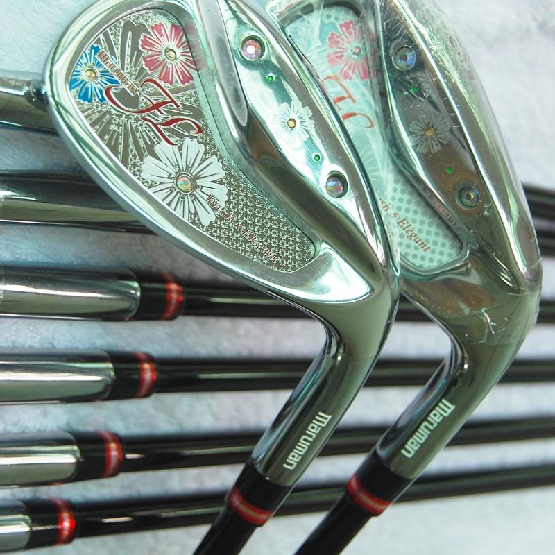 Cooyute New Women Maruman Golf Clubs Maruman FL Golf Irons 5-9 P A S Irons Set Graphite Golf shaft L Clubs shaft Free shipping