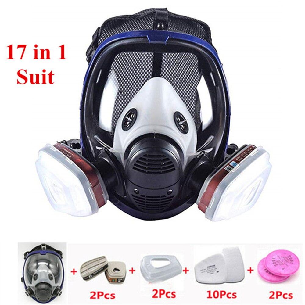 REBUNE 17 en 1 costume masque facial complet pour 6800 masque à gaz masque facial complet respirateur pour peinture outil de Protection de pulvérisation