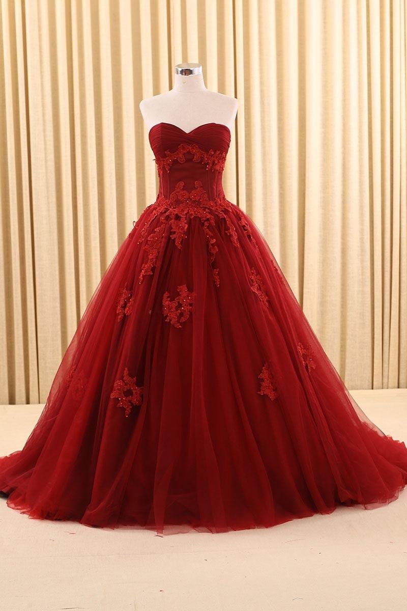 dress - Ball red dark gown video