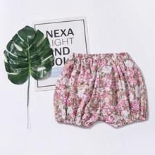 Летние штанишки для малышей, детские шорты с принтом, одежда для мальчиков и девочек, колье Подарочное