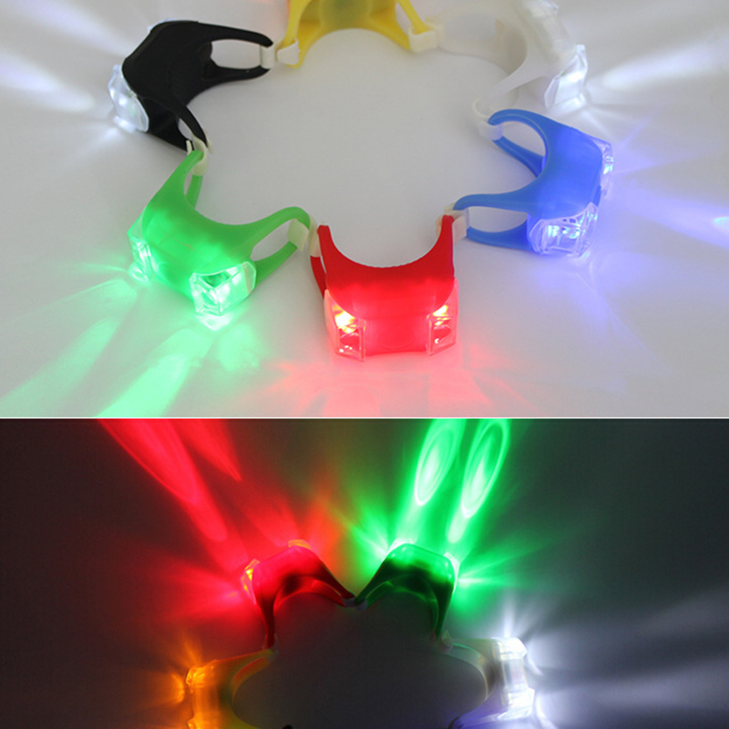 Bicycle-Accessories Tail-Light Frog Riding-Bike Safety Waterproof LED 3-Modes Double title=
