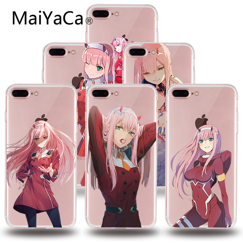 MaiYaCa two darling in the franxx anime DIY Painted Beautiful Phone Accessories