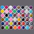 Hot 48 PCS Pure UV Gel Nail Art Gel Varnish Tips Shiny Cover Extension Manicure DIY Vernis Semi Permanent Pedicure Set Tools