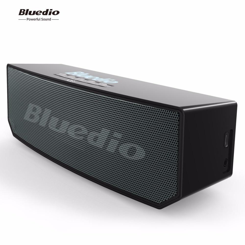 Bluedio BS-6 Mini Bluetooth Haut-Parleur Portable Sans Fil BT 5.0 Haut-Parleur avec microphone Nuage Intelligent haut-parleur La Voix Contrôle