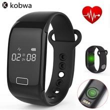 Kobwa Bluetooth 4.0 Смарт Браслет Монитор Сердечного Ритма Sport, Фитнес-Трекер Водонепроницаемый Сенсорный Экран Носимых Устройств Группа