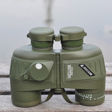 10X50 Waterproof Shockproof Military Binocular Telescope Spotting Scope with Compass High Power Binoculars for Hunting Camping