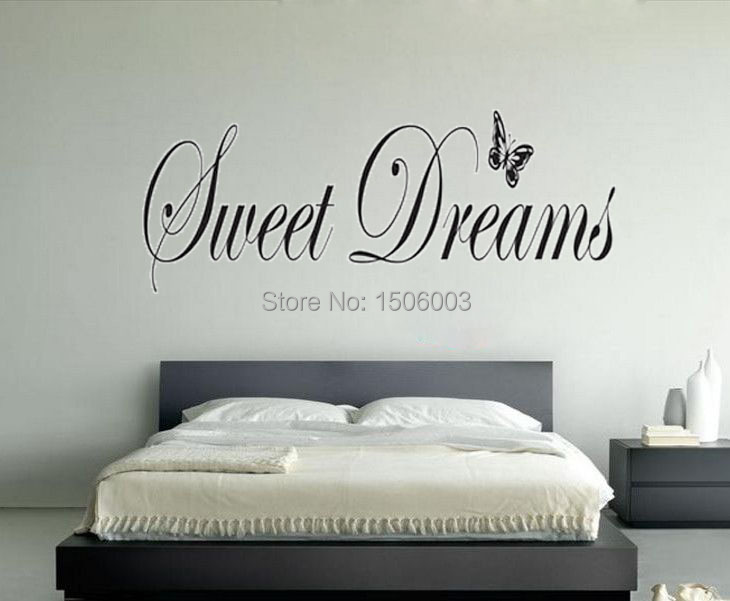Aliexpress.com : Buy SWEET DREAMS Butterfly Decoration Living Room  Decorative Home Decor Wall Art Bedroom Wallpaper Sticker On The Wall From  Reliable ...