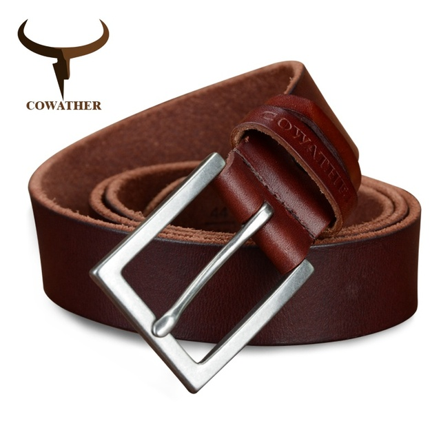 Men's High Quality Genuine Leather Pin Buckle Belt