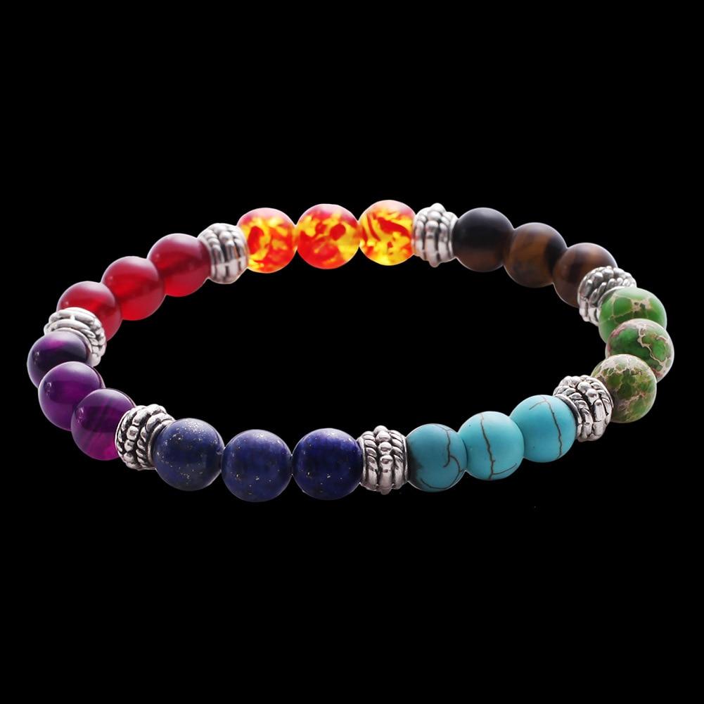 Mixed Gemstone Chakra Bracelet 1
