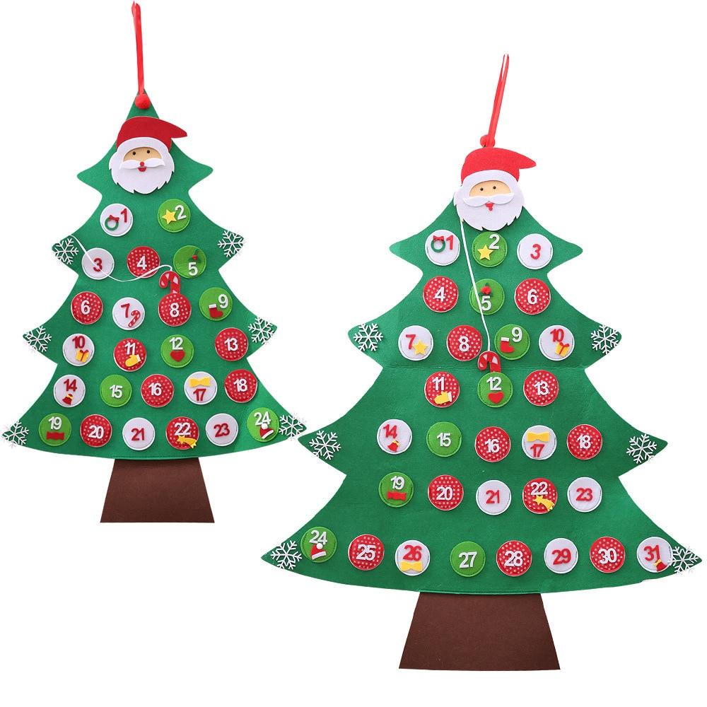 Kids DIY Felt Christmas Tree with Ornaments Children ...
