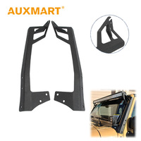 Auxmart 52 A Pillar Curved Led Light Bar Mount Steel Upper Windshield Mounting Brackets Car Offroad