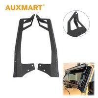 Auxmart 52 A Pillar Curved Led Light Bar Mount Steel Upper Windshield Mounting Brackets Car Offroad