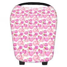 Multi Use Stretchy Newborn Infant Nursing Cover Floral Baby Car Seat Cart Canopy T026