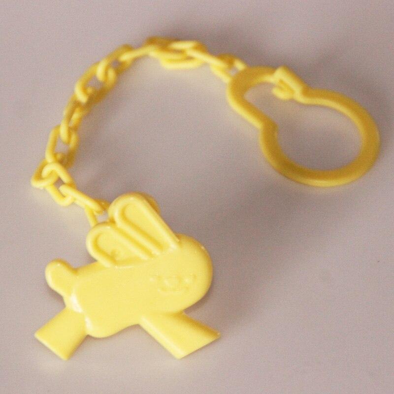 1 шт., Детские зажимы для соски, забавные соски-прорезыватели, аксессуары для сосок, держатель для соски с цепочкой, устойчивый к падению ремень - Цвет: Yellow Rabbit