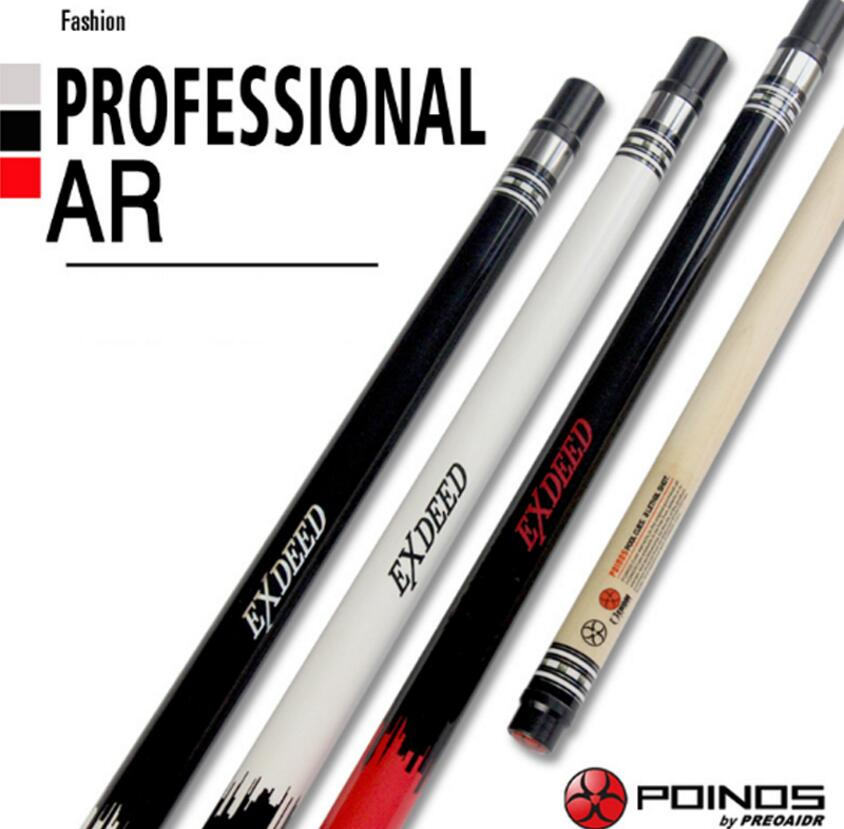 New Arrival POINOS Brand AR Billiard Pool Cues Stick Kit 13mm 11 5mm 9 5mm Tips Maple Durable Professional Pool Cue China 2019 in Snooker Billiard Cues from Sports Entertainment