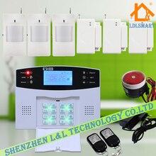 Комплект Металла Дистанционного Управления + Датчик Движения + Датчик Двери Голосовые Подсказки Беспроводной GSM Главная Охранной Охранной Сигнализации