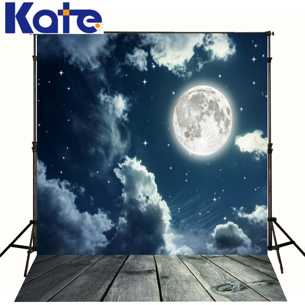 Kate 8x8ft Wood Photo Background Wood Floor Night Sky Moon Backgrounds Backgrounds For Photo Studio Newborn Photo Background kate photo background dream field