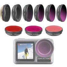 Für OSMO ACTION Kamera Filter Tauchen Rot Magenta Rosa Filter Für DJI Osmo Action UV ND4/8/16 /32 PL Optische Glas Objektiv Zubehör