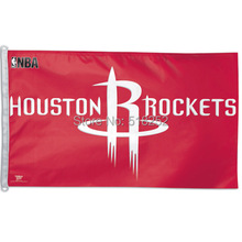Houston Rockets Flag 3×5 FT 150X90CM Banner 100D Polyester NBA flag 115, free shipping