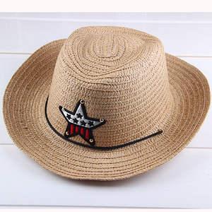 JINYINGHUO Summer Children Cowgirls Cowboy Hats Straw Caps c17879303833