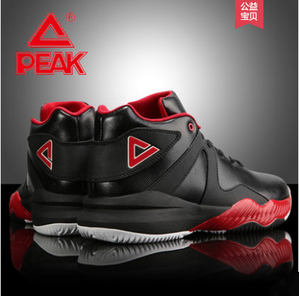 basketball shoes men's shoes 2018 summer new high wear-resistant black students breathable shoes sports shoes Peak цена