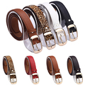 Women's Fashion Waist Belt Brand All-match Faux Leather Belts Casual Waistband Strap 09WG