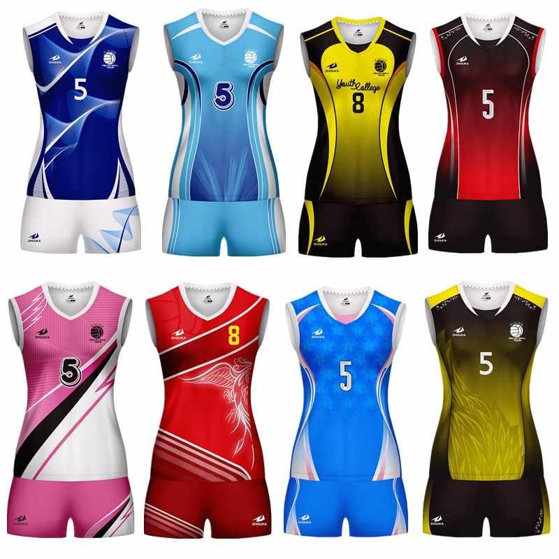 2019 เสื้อวอลเลย์บอล JERSEY ROPS De Voleibol วอลเลย์บอลเสื้อผ้าสำหรับสาว Voleibol Camisetas ที่กำหนดเองวอลเลย์บอลชุด