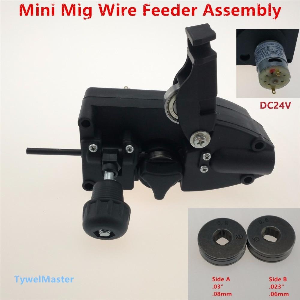 24V DC Mini Wire Feeder Light Duty MIG Wire Feeder Assembly 0.6/0.8 Default Roll Wire Feed Machine For Mig Welder Welding SSJ-16 professional 24v 0 6 0 8mm ssj 29a wire feed assembly wire feeder motor mig mag welding machine welder euro connector mig 160