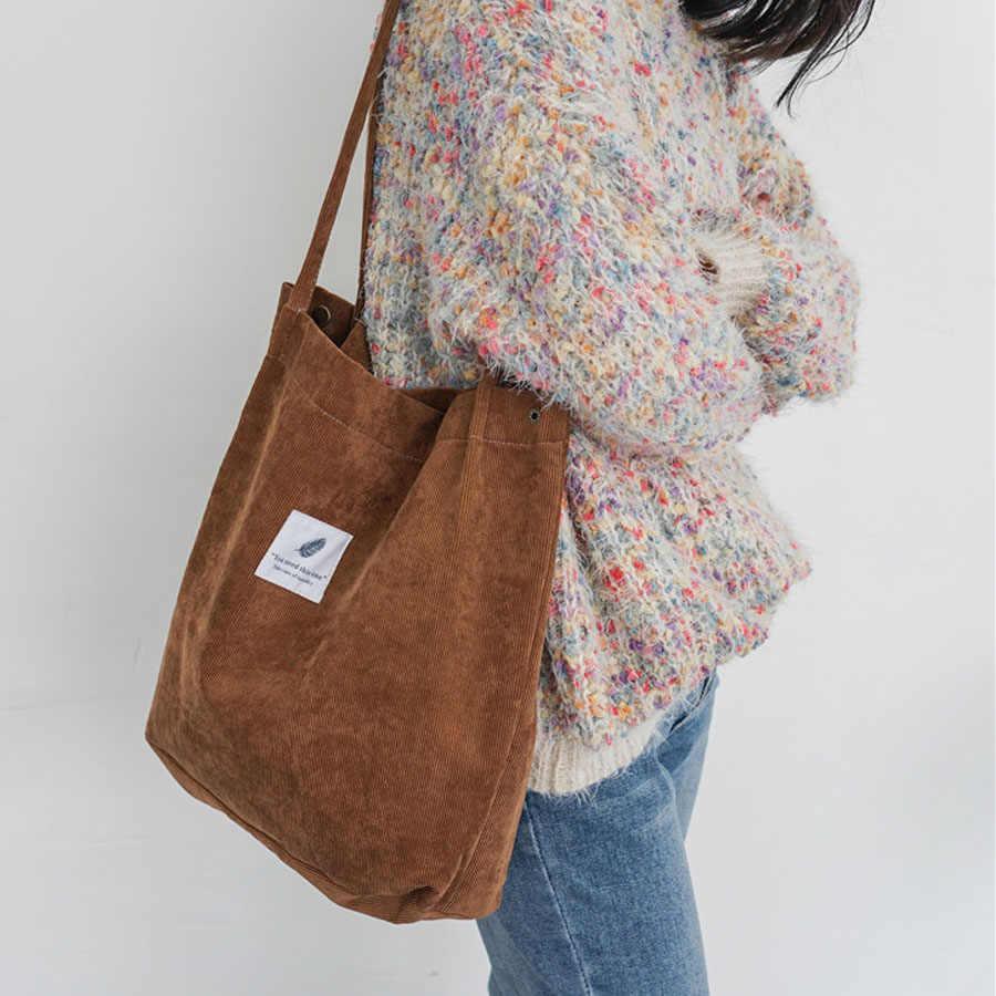 6a06686217ef ... Сверхмощный Для женщин хозяйственная сумка для девочек вельветовые  Повседневное дорожная сумка женские школьные учебники сумки Портативный ...