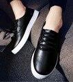 2017 Новый Человек женские Плюс Размер Мокасины Черный Белый Цвет водитель Обувь Для Мужчин Мокасины плоским Пу Шнуровке Обувь Мужчина Осень. DC-209