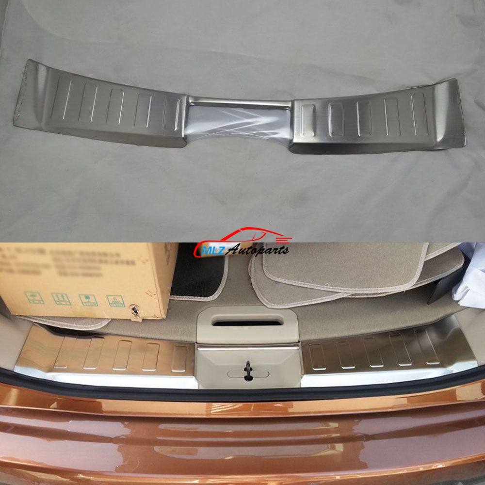 Car Rear Trunk Bumper Protector Sill Plate Guard Skid Cover Trim Stainless Steel For Nissan X-Trail Rogue T32 2014 2015 2016 front rear bumper protector sill trunk guard skid plate trim cover plate for nissan qashqai 2007 2008 2009 2010 2011 2012 2013
