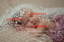 Stretch Lace Wrap Newborn Photography Props Baby Shower Gift Swaddlings Props for Baby Photo