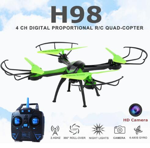 Best Seller Upgraded Jjrc H98 Rc Remote Control Quadcopter Helicopter Drone With HD 0.3MP 2MP Camera Fly Eyes Headless Mode Toys