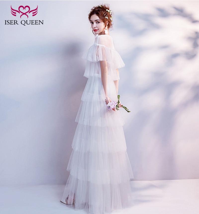 Iser Queen O Neck Tiered Bohemian Beach Wedding Dress 2019 Sexy