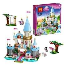 New Children and girls puzzle Assembling building block toy 669 pcs Cinderella Romantic Castle Building Bricks SY325 Compatible