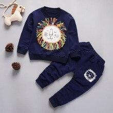 DIIMUU Toddler Boys Clothing Infant Kids Clothes Print Letter Cotton Tops Children Waist Pants 2PC Sports Casual Sets