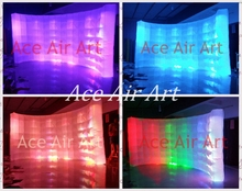 Lighted Inflatable Photobooth backdrop wall for Photograph for France