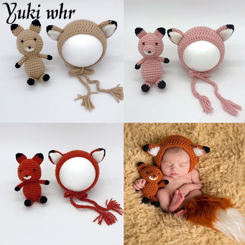 Neugeborenen Fotografie Requisiten Cartoon Fuchs Baby Hut Fotografie ...