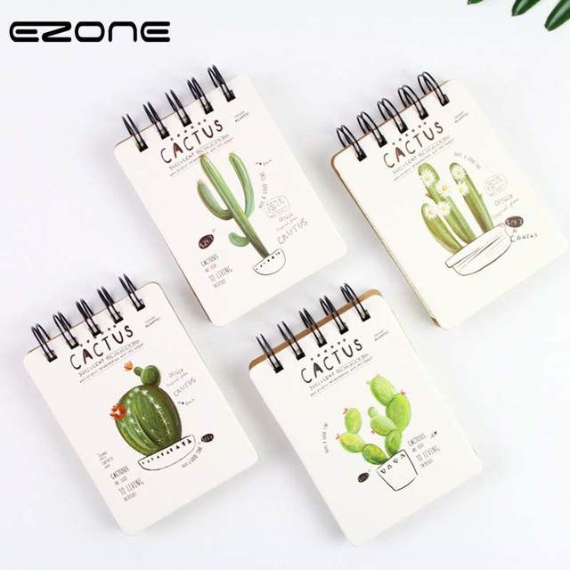 ezone creative cute cartoon cactus series coil spiral notebook mini