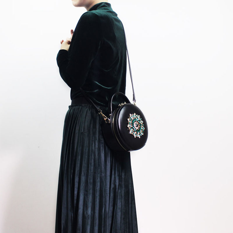 BENVICHED женская сумка из натуральной кожи крупного рогатого скота 2019 Новая Бриллиантовая модная сумка на плечо ретро мини сумка c389 - 5