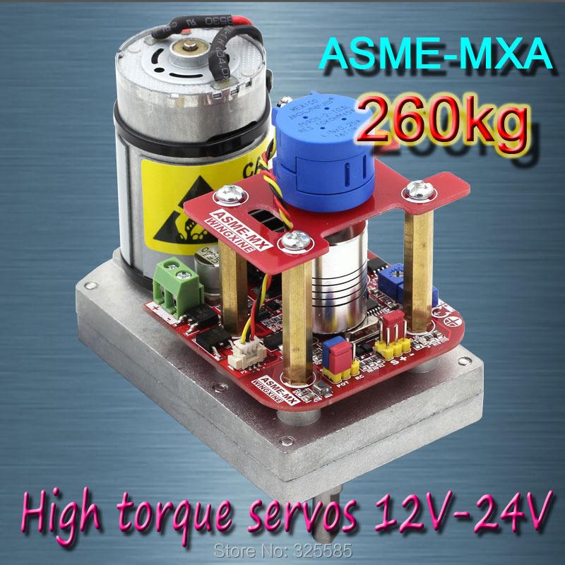 Prix pour ASME-MXA Haute puissance couple élevé servo le 3600 Degrés servo 12 V ~ 24 V 260kg. cm 0.12 s/60 Degrés angle grand robot
